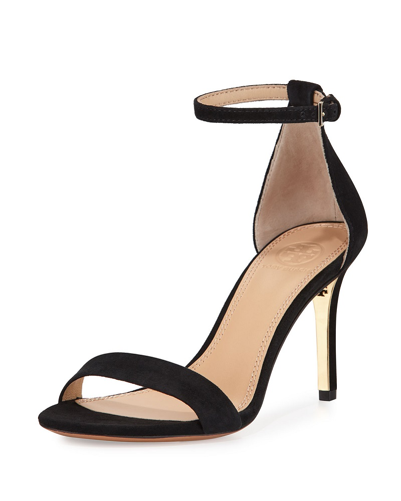 Tory Burch Classic Suede Ankle-Strap Sandal