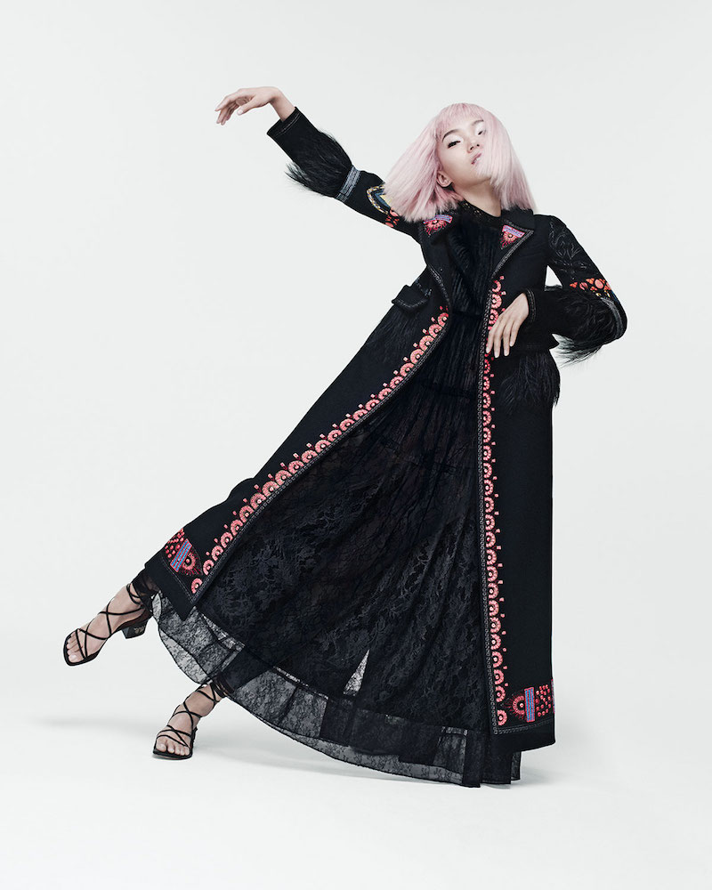 Valentino Ankle-Length Embroidered Coat
