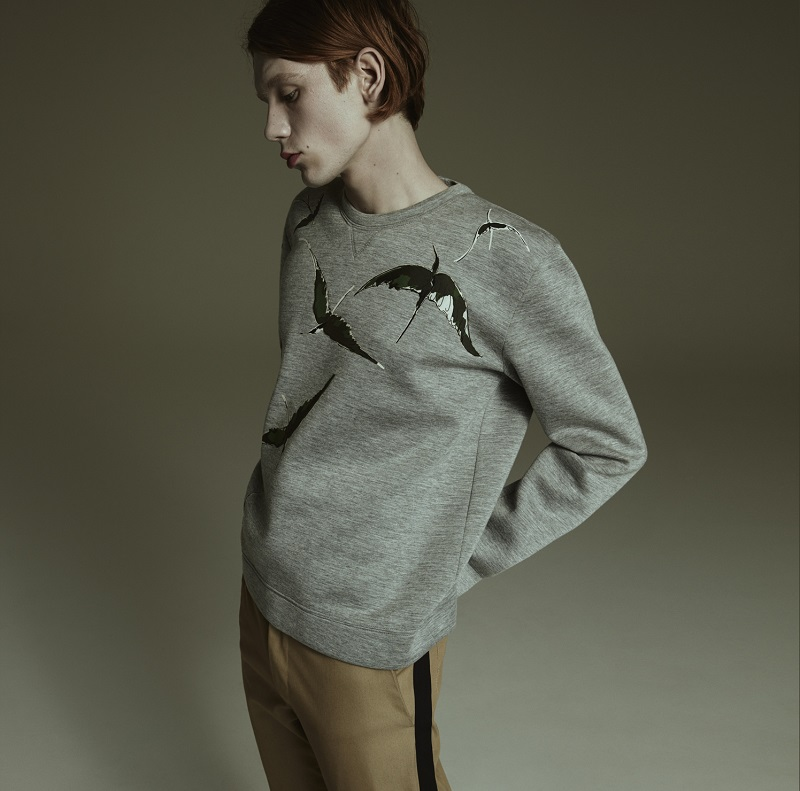 Valentino Appliquéd Bonded Jersey Sweatshirt