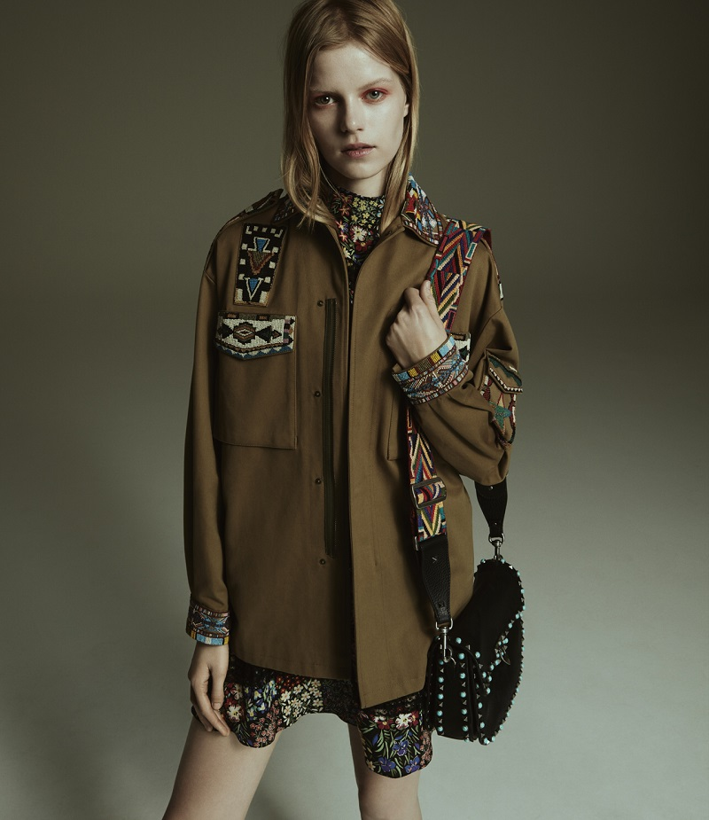 Valentino Beaded Barn Jacket