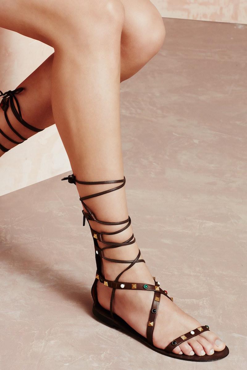 Valentino Lace-Up Sandal