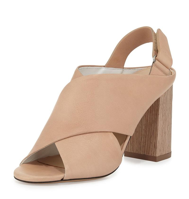 Vince Faine Chunky-Heel Leather Sandal