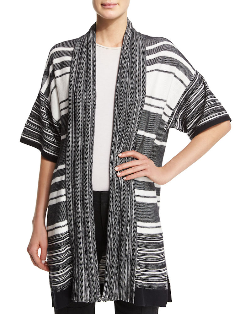 Vince Multi-Stripe Open Cardigan_1