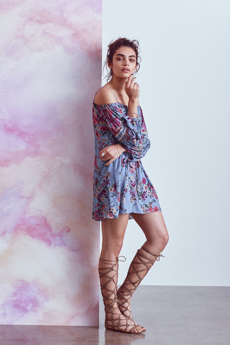 Wayf Cold Shoulder Shift Dress