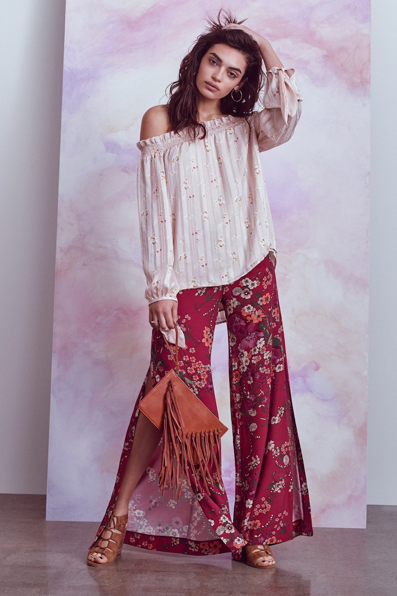 Wayf Side Slit Wide Leg Pants
