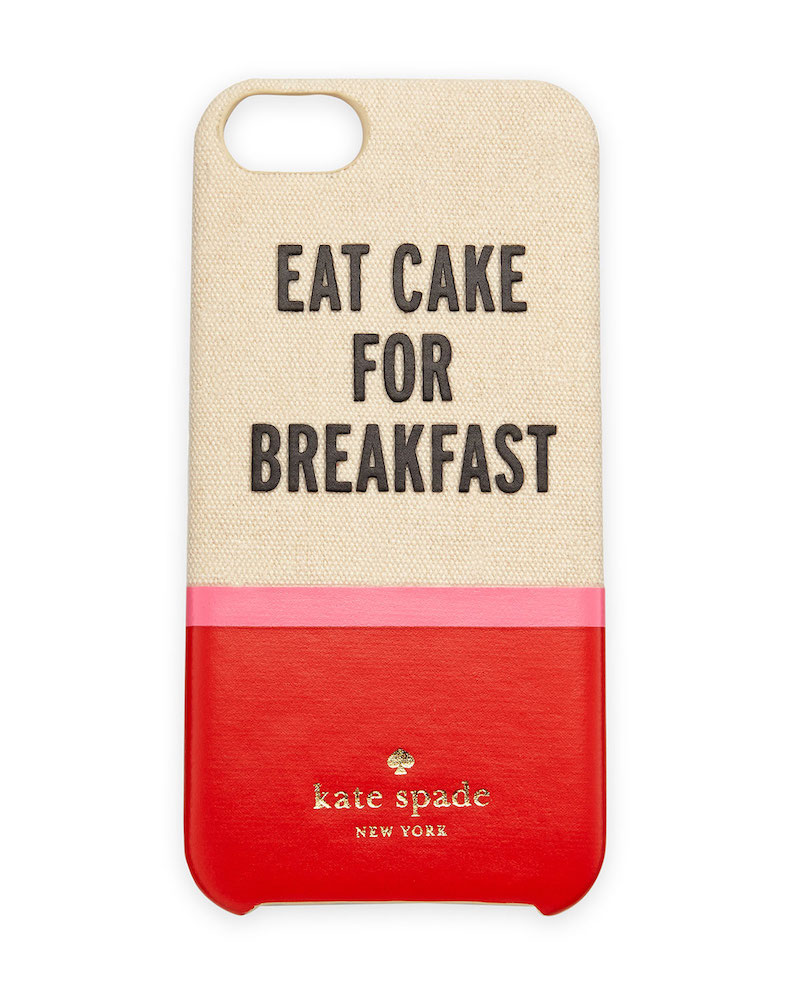 kate spade new york eat cake resin canvas iPhone case