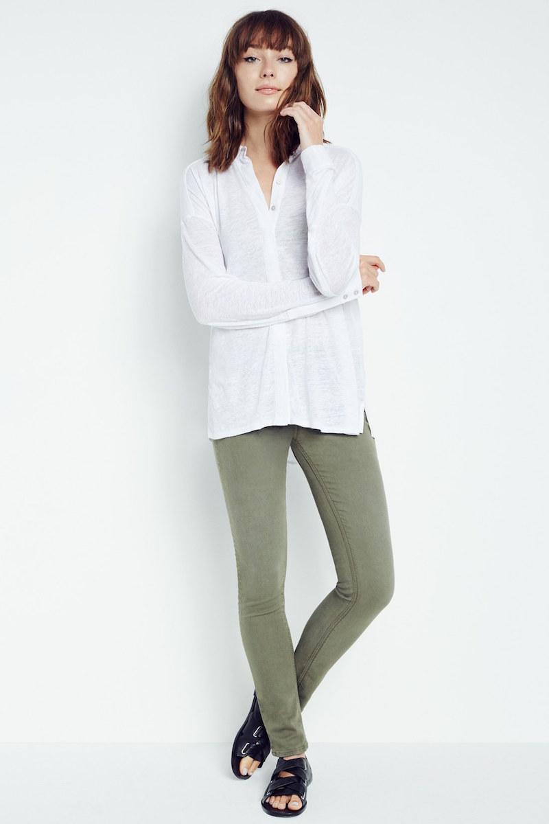 rag & bone/JEAN Skinny Jeans in Distressed Army