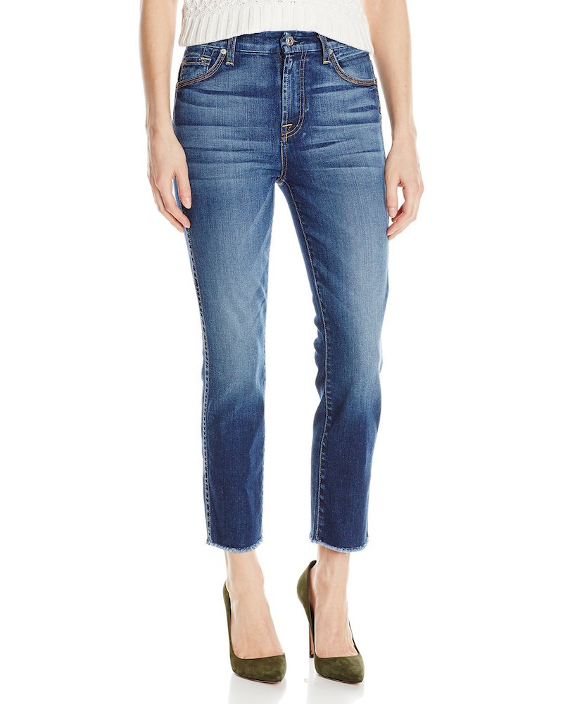 7 For All Mankind Ankle Straight with Raw Hem Jean