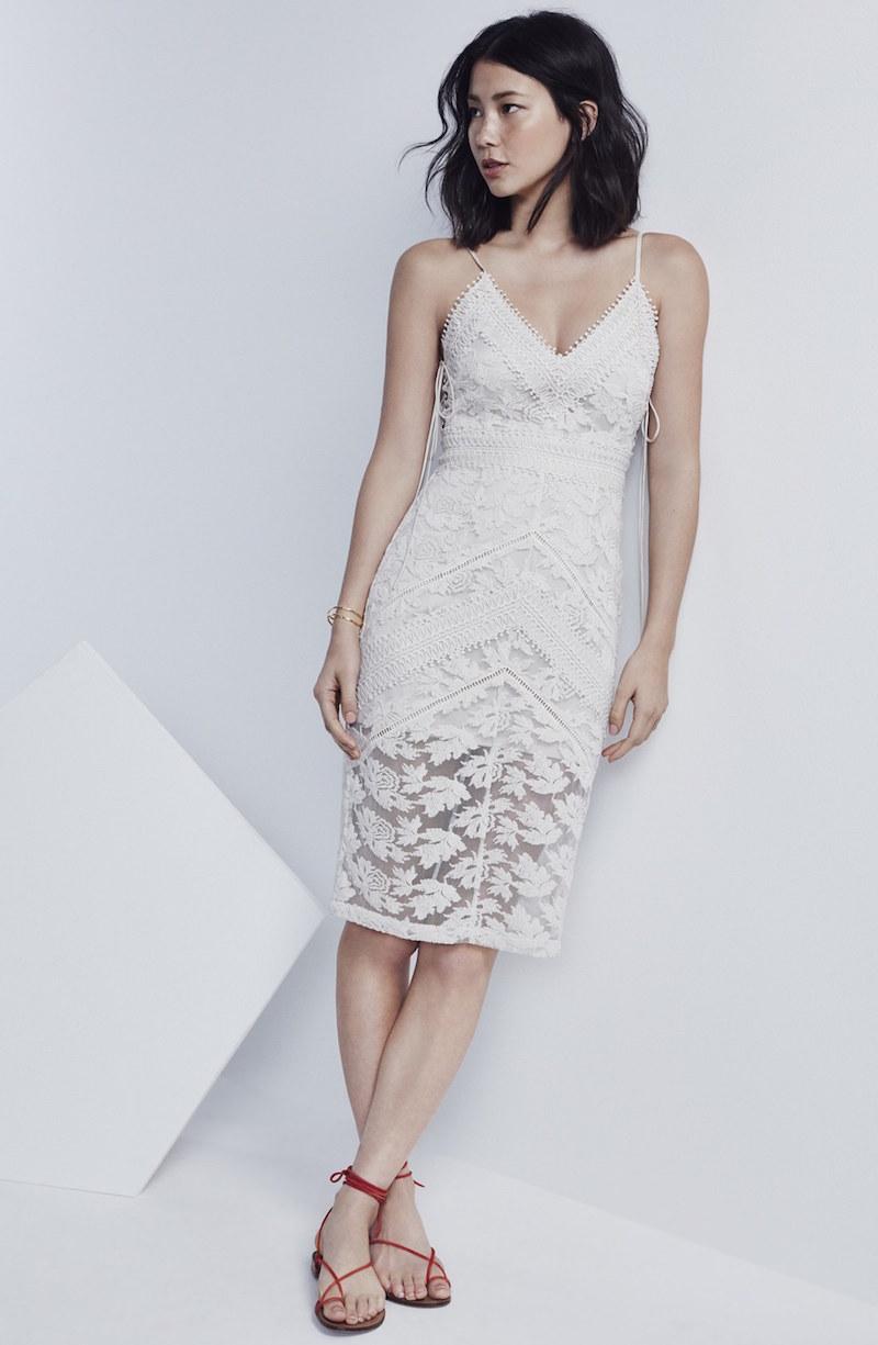 Adelyn Rae Lace Midi Sheath Dress