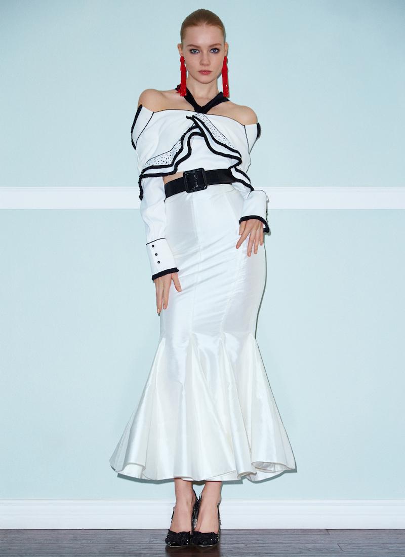 Alessandra Rich Taffeta Skirt