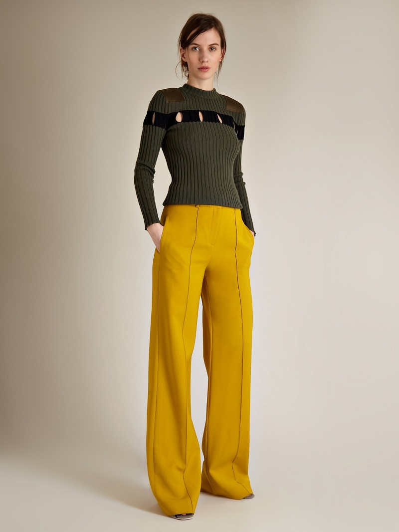 Alexander Wang Cut-out detail ribbed-knit sweater