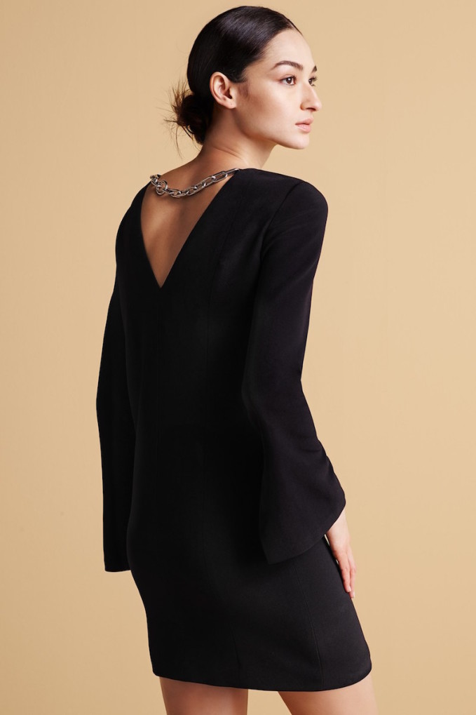 Alexander Wang Plunging Back Tunic Dress