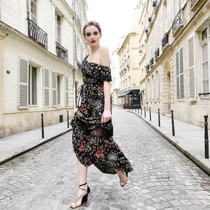 Alice + Olivia Cheri Off-The-Shoulder Ruffled Dress