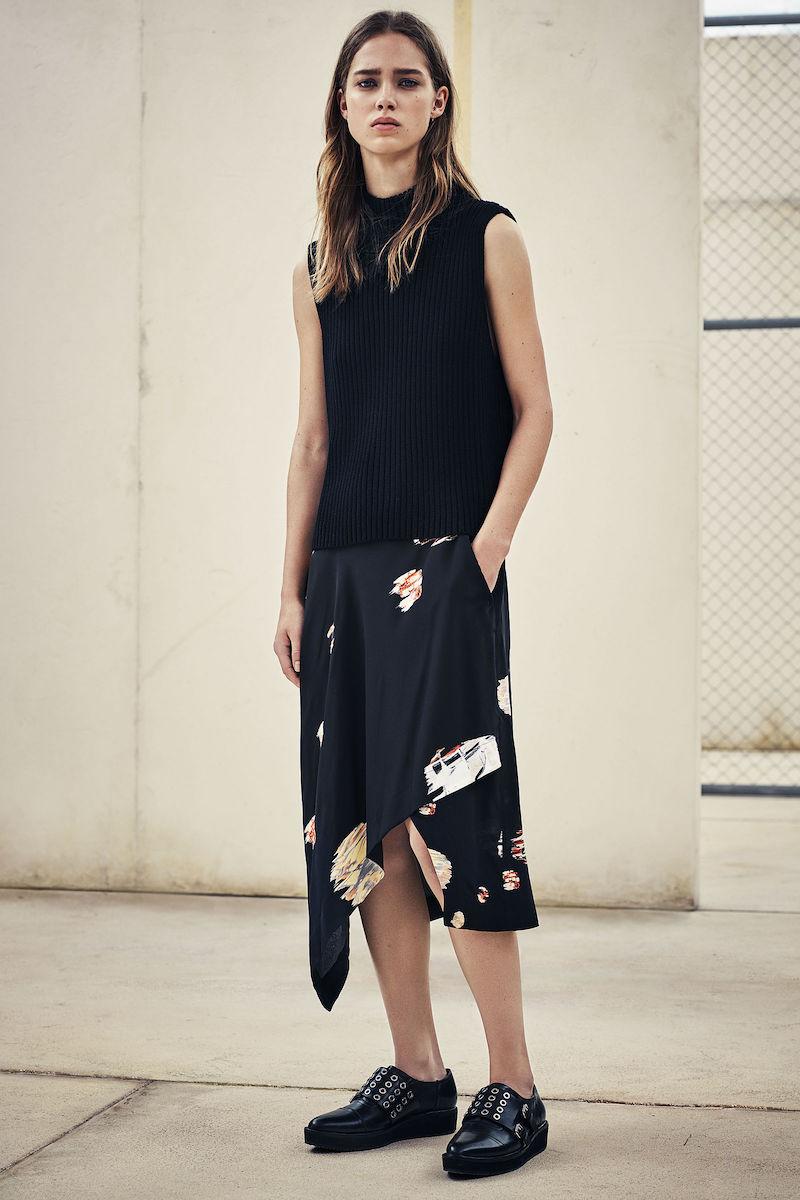 AllSaints Cecilia Brocade Skirt