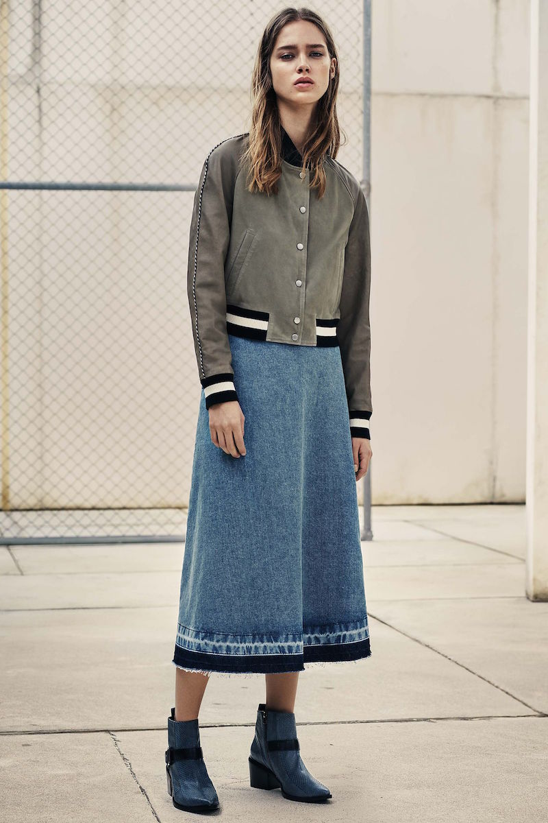 AllSaints Sina Long Skirt