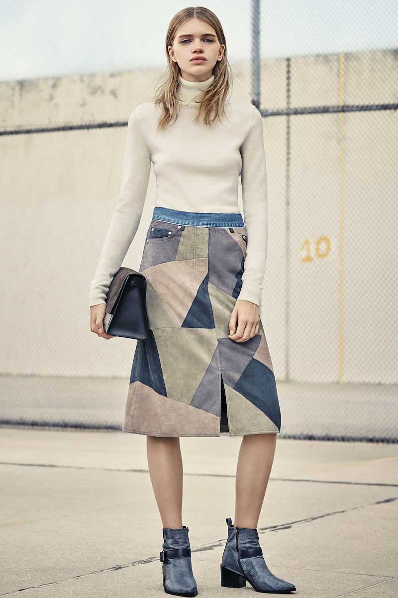 AllSaints Turner Leather Skirt