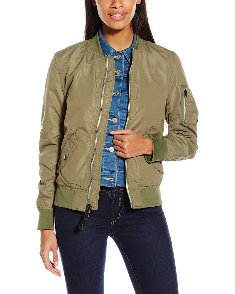 Alpha Industries Scout Lightweight Nylon Bomber Jacket