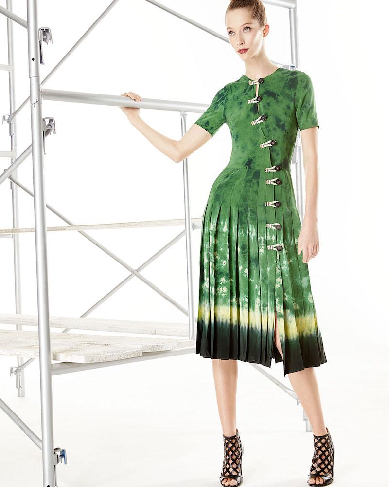 Altuzarra Tie-Dye Asymmetric Button-Front Dress