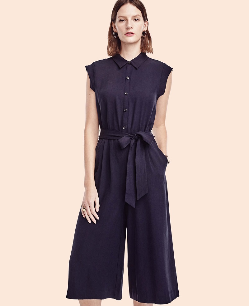 Ann Taylor Belted Jumpsuit
