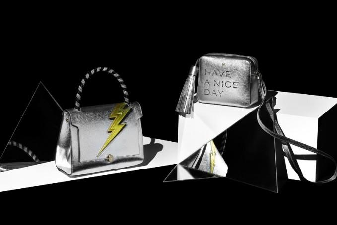 Anya Hindmarch Lightning-Bolt Bathurst small leather bag
