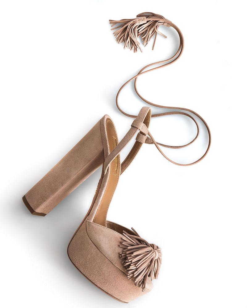 Aquazzura Wild One Tassel Sandal