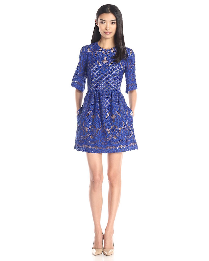 BCBGMax Azria Jillyan Lace Bell Sleeve Dress