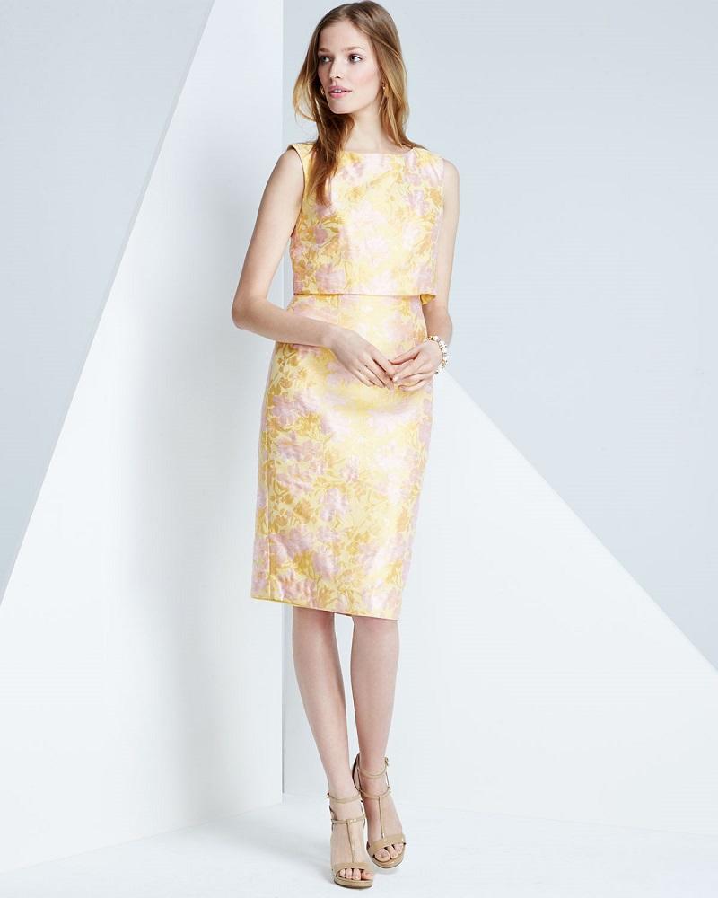 Badgley Mischka Sleeveless Popover Sheath Dress
