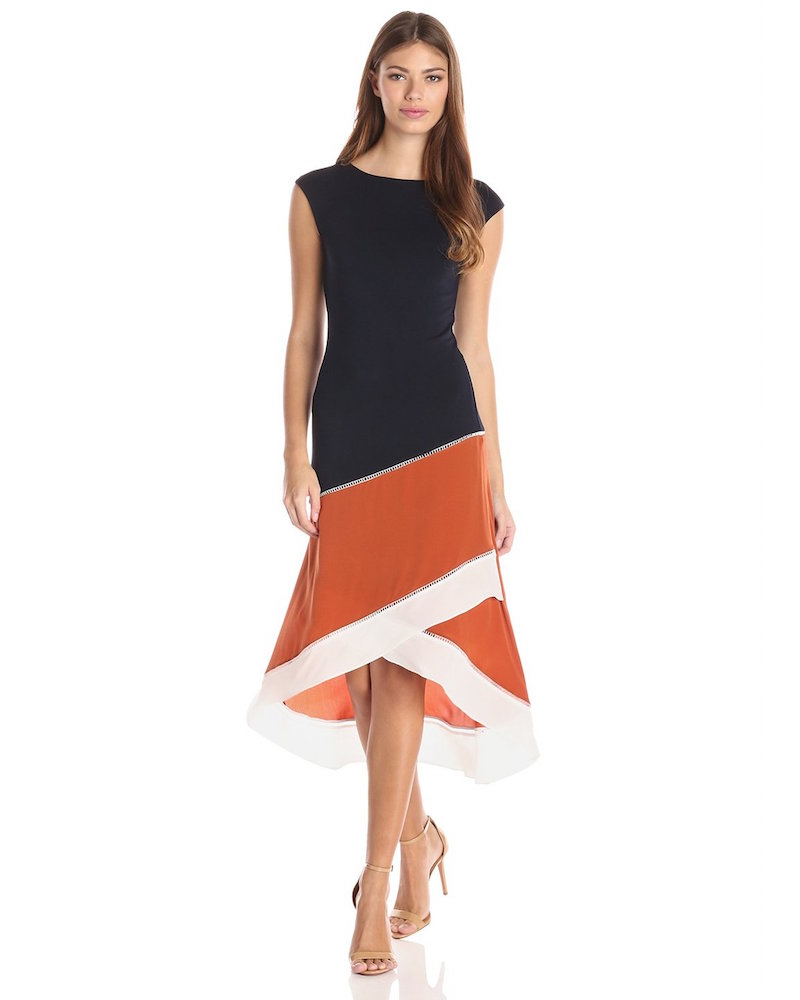 Bailey 44 Rumors Color-Block Asymmetric Dress