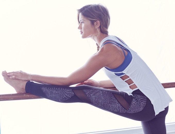 Beyond Yoga Spliced and Diced Mesh Inset Leggings_1