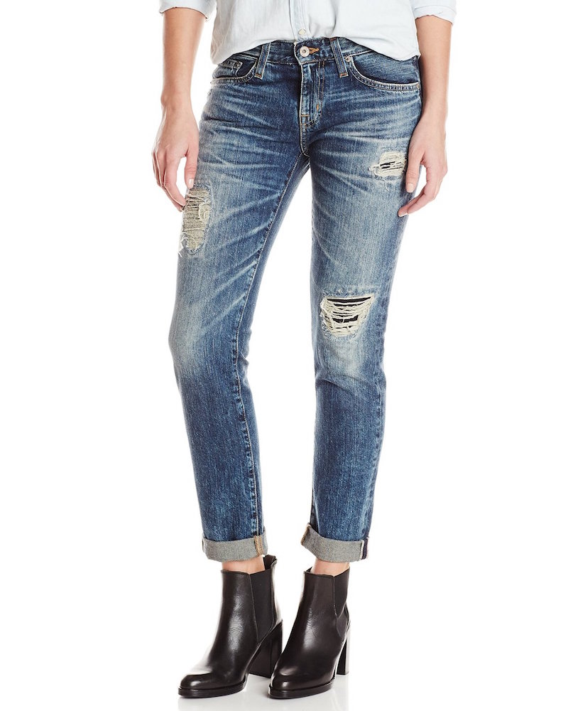 Big Star Billie Slouchy Skinny Boyfriend Jean In Distressed Blix Wash