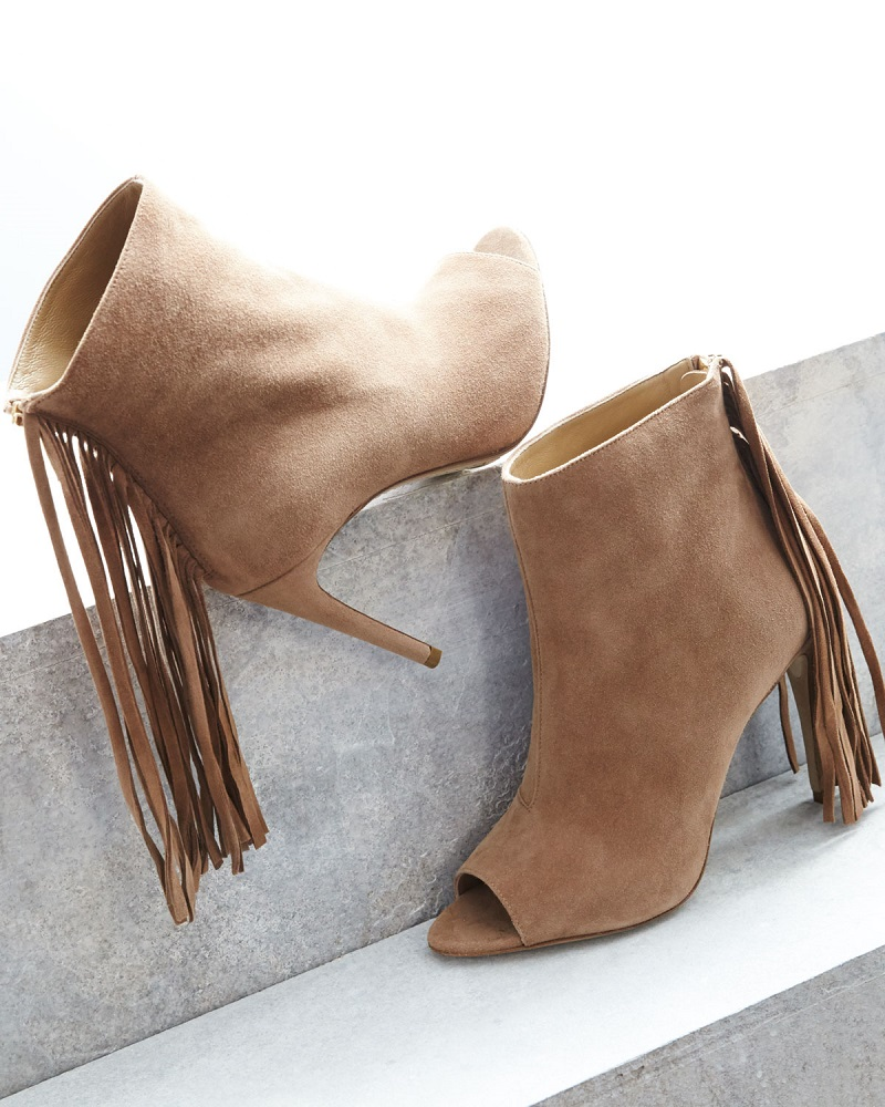 Burberry Danielle Suede Fringe Bootie