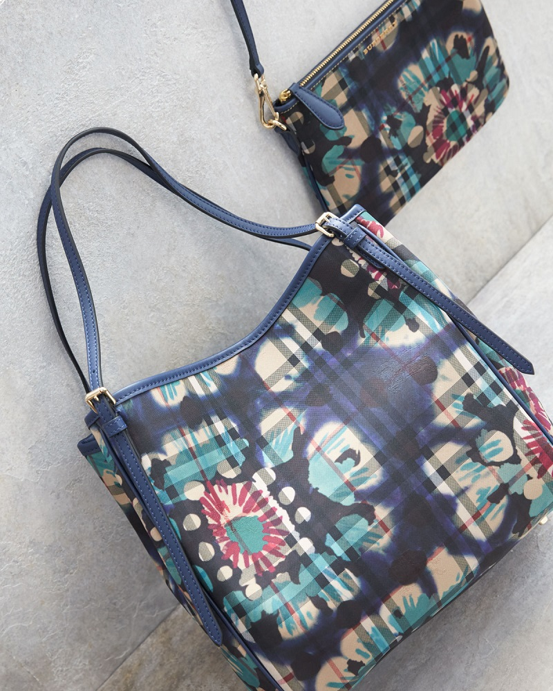 Burberry Peyton Horseferry Check Print Shoulder Bag