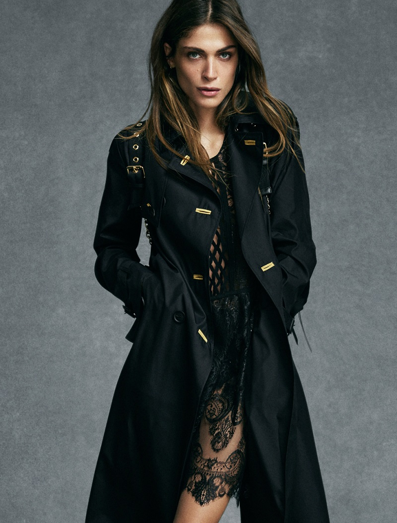 Burberry Prorsum Silk and wool trench coat