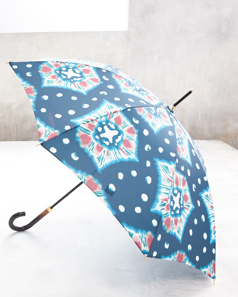 Burberry Prorsum Waterloo Tie-Dye Walking Umbrella, Cerulean Blue