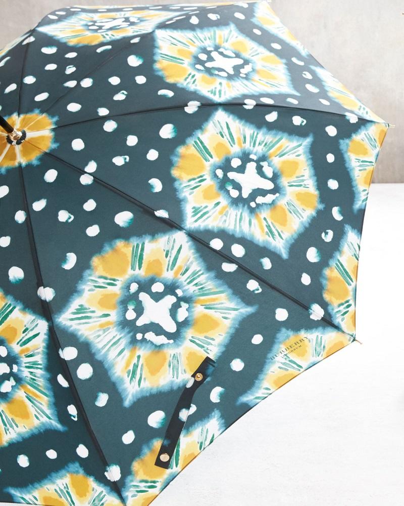 Burberry Prorsum Waterloo Tie-Dye Walking Umbrella