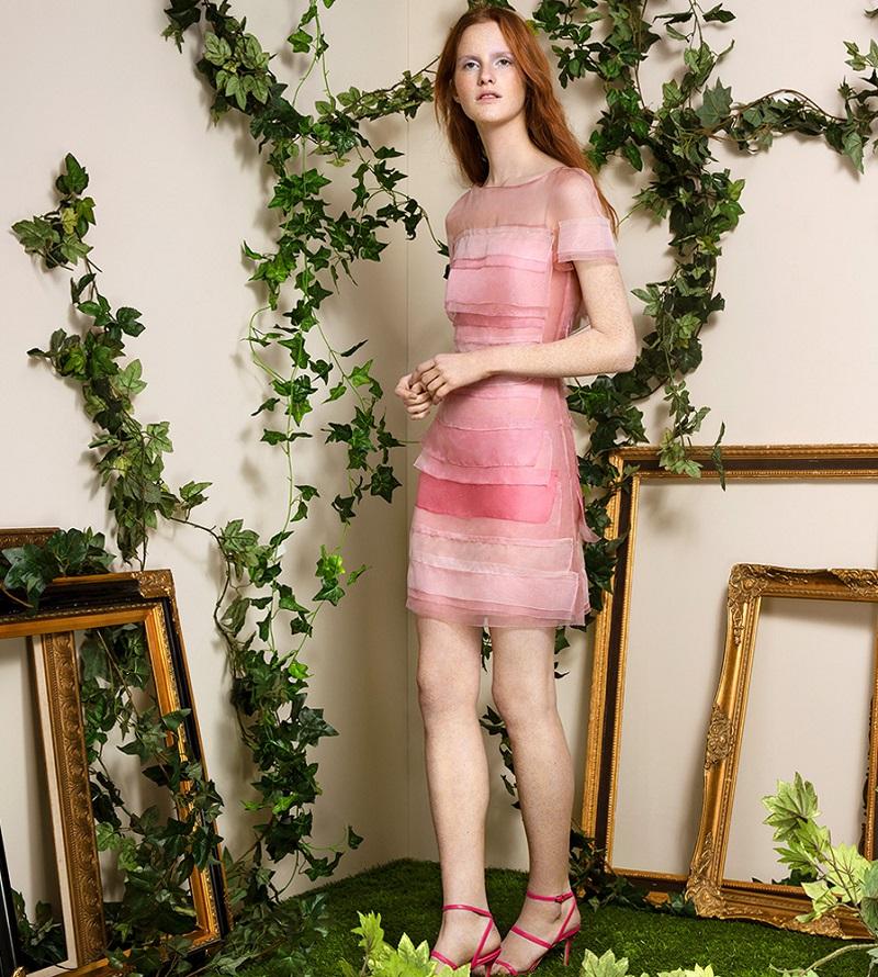 Carolina Herrera Layered Silk Dress