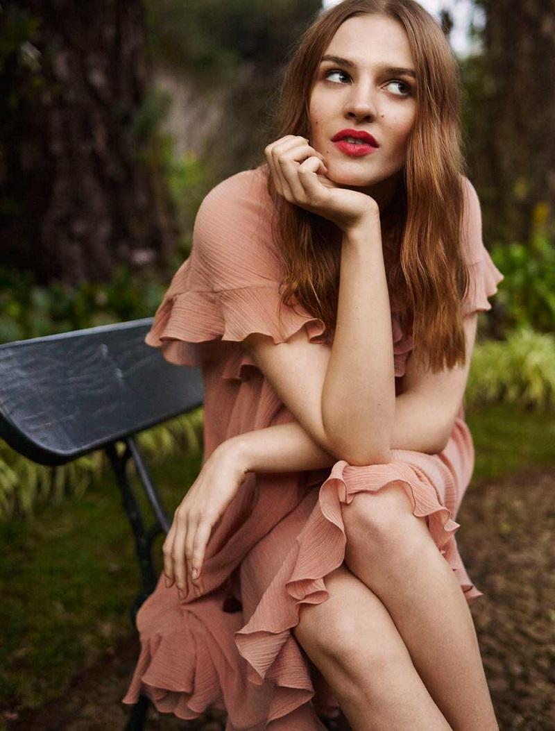 Chloé Cotton plissé dress