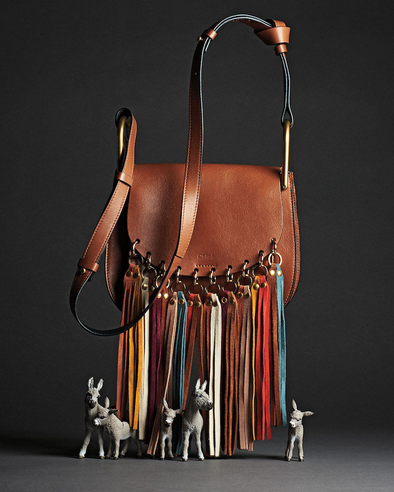 Chloé Hudson Fringe-Trim Leather Shoulder Bag