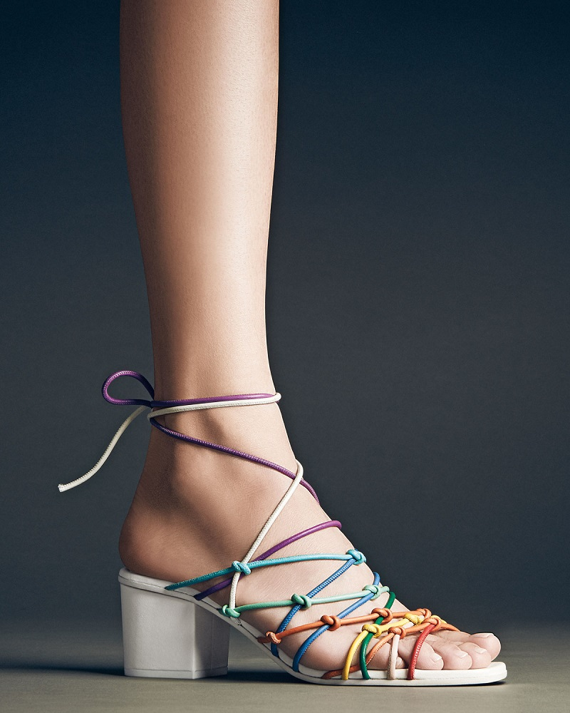 Chloe Knotted Ankle-Wrap Sandal