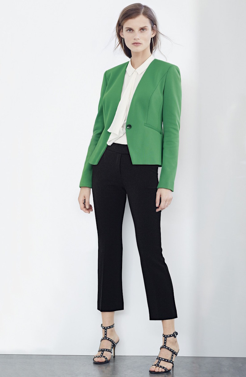 Classiques Entier Collarless V-Neck Jacket