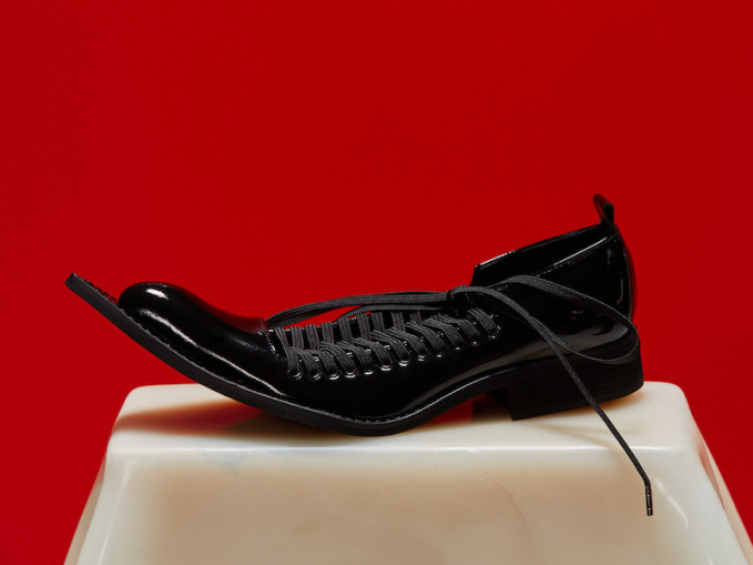 Comme des Garcons Patent Leather Pointed Oxfords