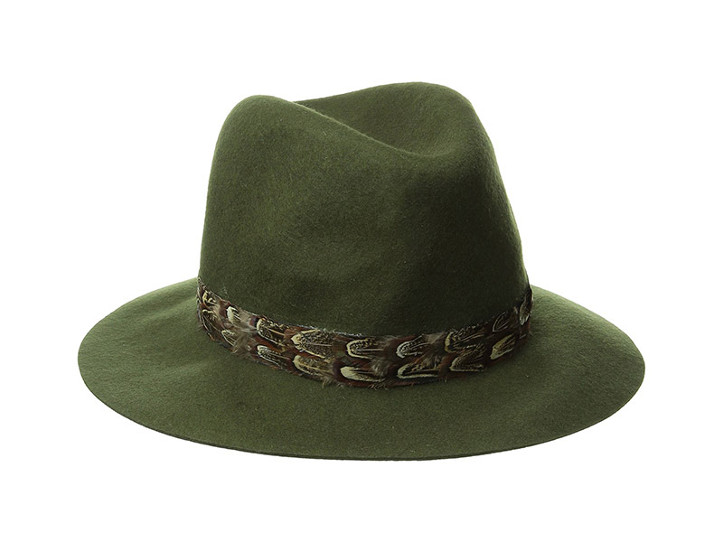David & Young Felt Panama Hat with Feather Band