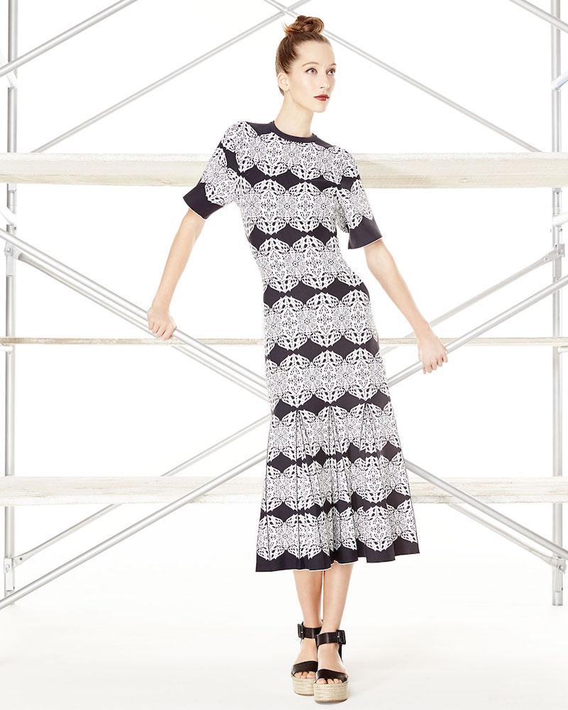 Derek Lam Medallion-Lace Flared Dress