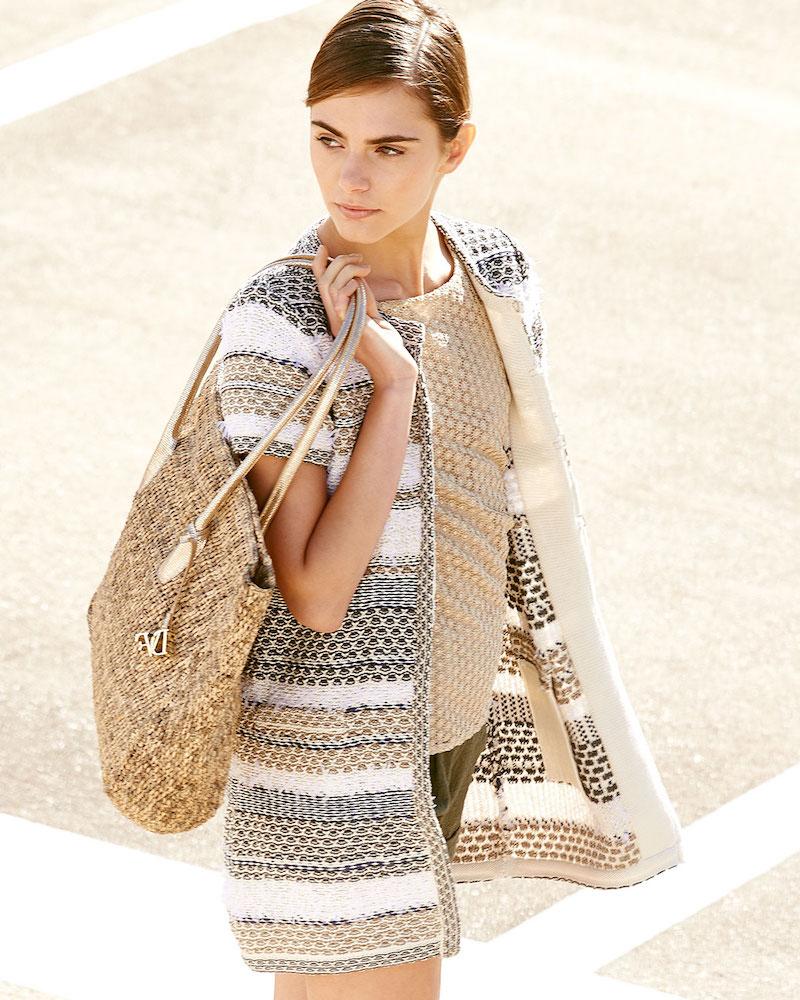 Diane von Furstenberg Arryn Short-Sleeve Multipattern Sweater