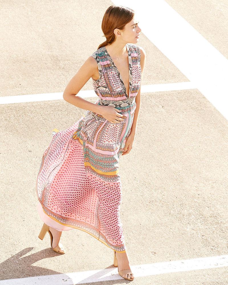 Diane von Furstenberg Lelani Silk Zen Scarf Maxi Dress