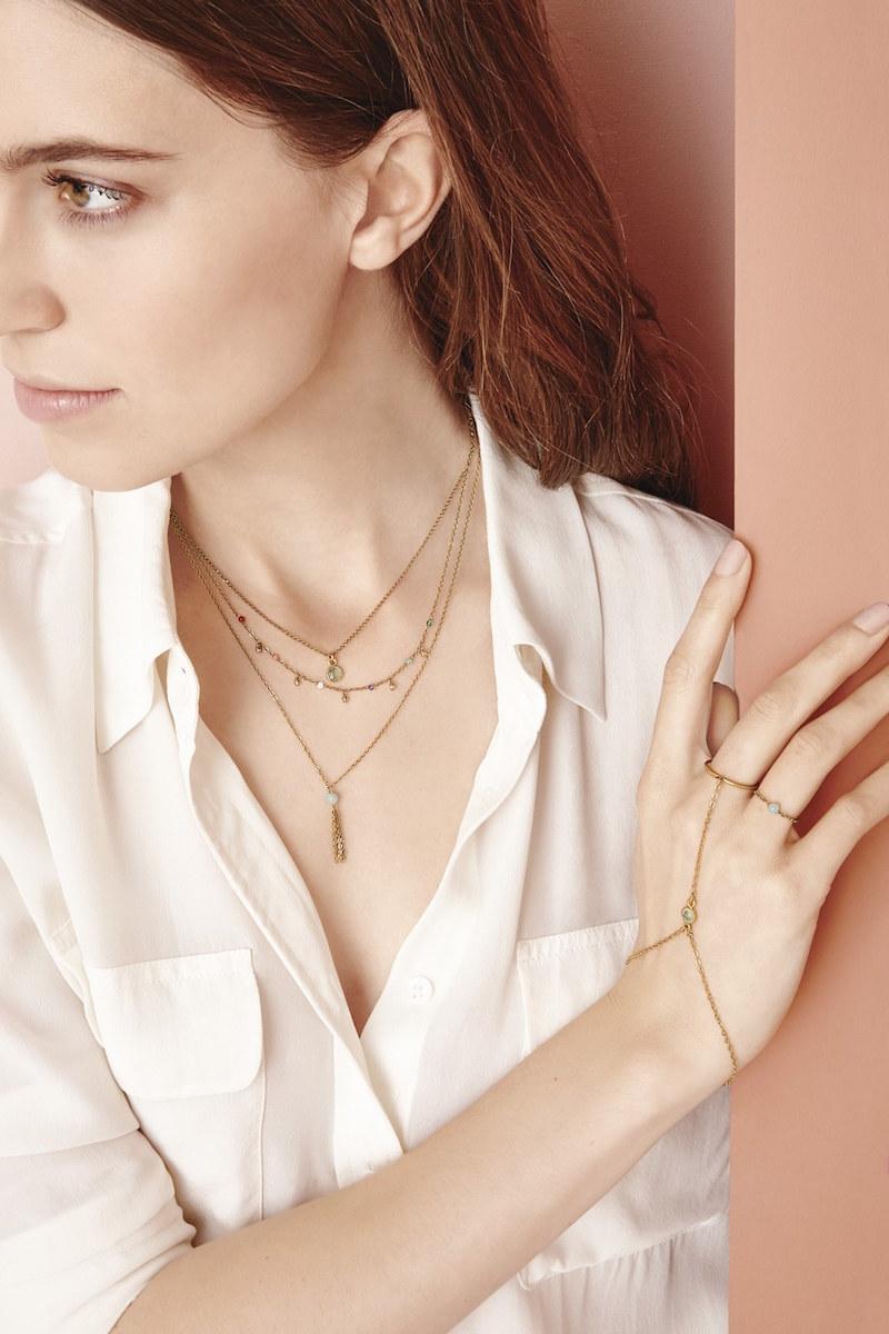 Dogeared Love Gem Semiprecious Stone Chain Ring