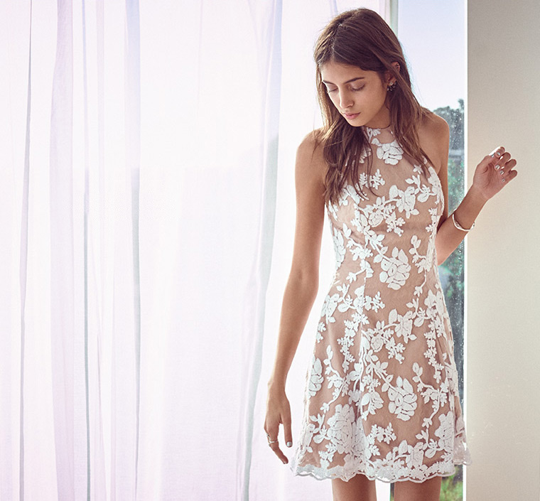 Dress the Population Abbie Sequin Fit & Flare Dress