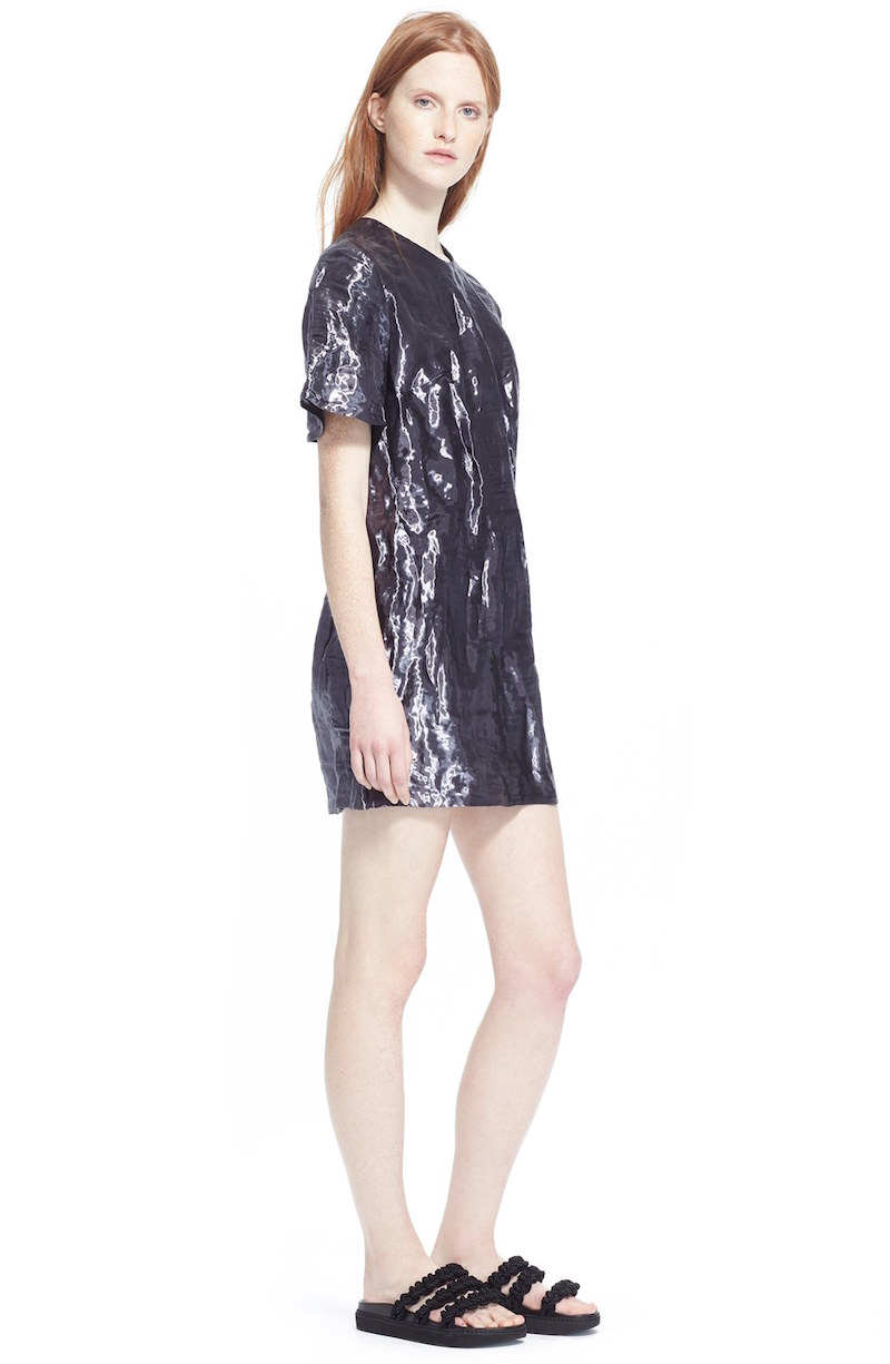 ELLERY Over the River Woven Metal Dress