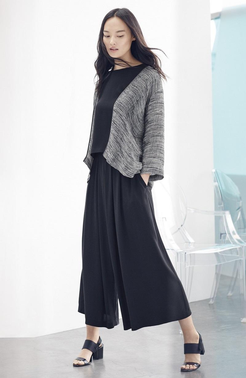 Eileen Fisher Linen Blend Kimono Jacket