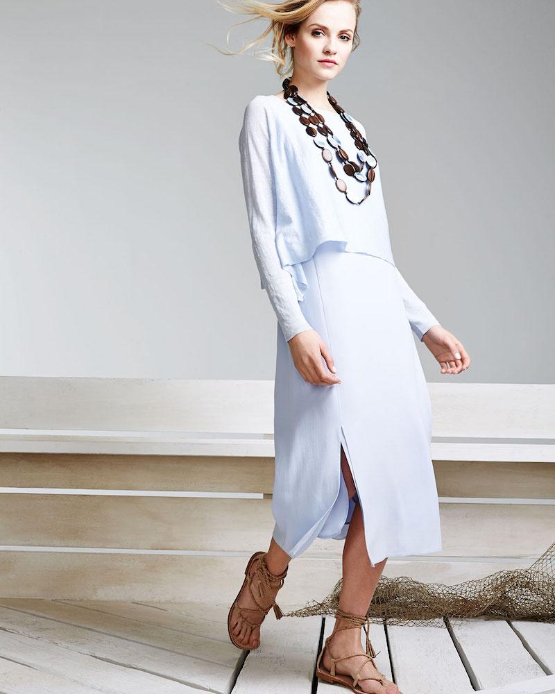 Eileen Fisher Long-Sleeve Organic Linen Short Top